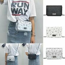 Модные женские сумки, сумки на плечо, женские дорожные сумки с цепочкой, сумка-мессенджер в клетку с геометрическим рисунком