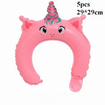 1PC 100*97CM Pink Horse Little Pony Unicorn Foil Balloons Helium Balloon Kids Toys Wedding Birthday Animal Party Decor Supplies 7