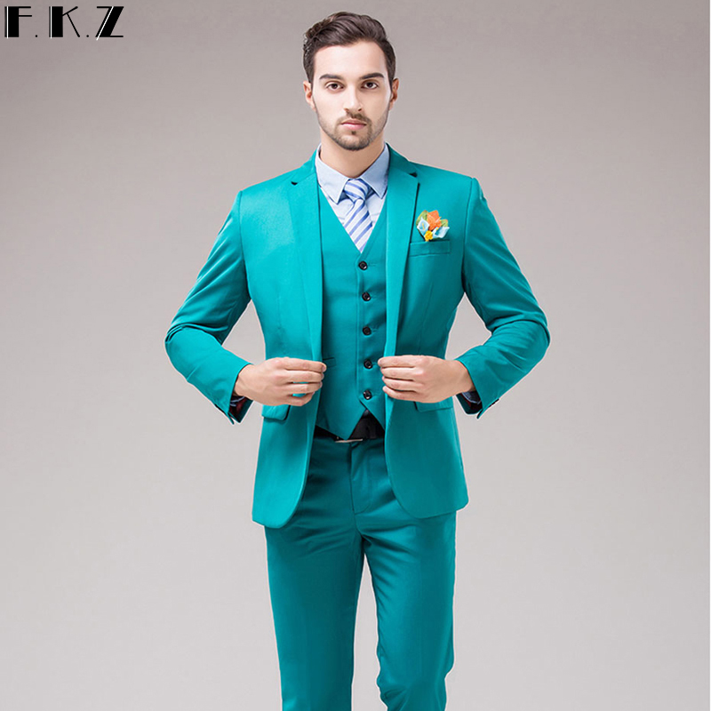 Men Wedding Suit 2017 Fashion Designer New Tuxedos For Business Formal Mens 3 Piece Suits Latest Coat Pant 12 Colors Clothe In From S