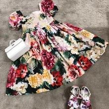 Baby girls floral dress sweet toddler baby girls summer dress high quality kids