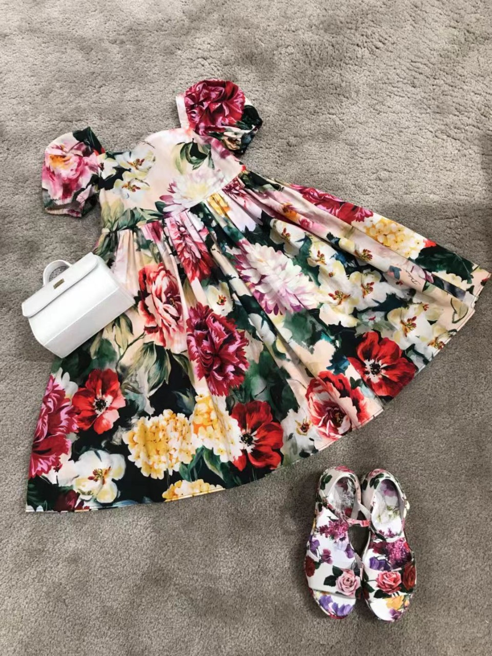 Baby Girls Floral Dress Sweet Toddler Baby Girls Summer Dress High Quality Kids Clothes