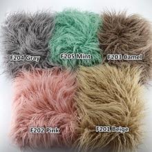 Newborn Photography Props Blankets Soft Long Fur Plush Baby Blanket Basket Flokati Stuffer Faux Fur Fotografia Backdrop