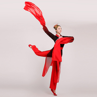 2017 new water sleeves dance costumes woman hanfu red ink Chinese classical dance national myth stage costumes of adult female