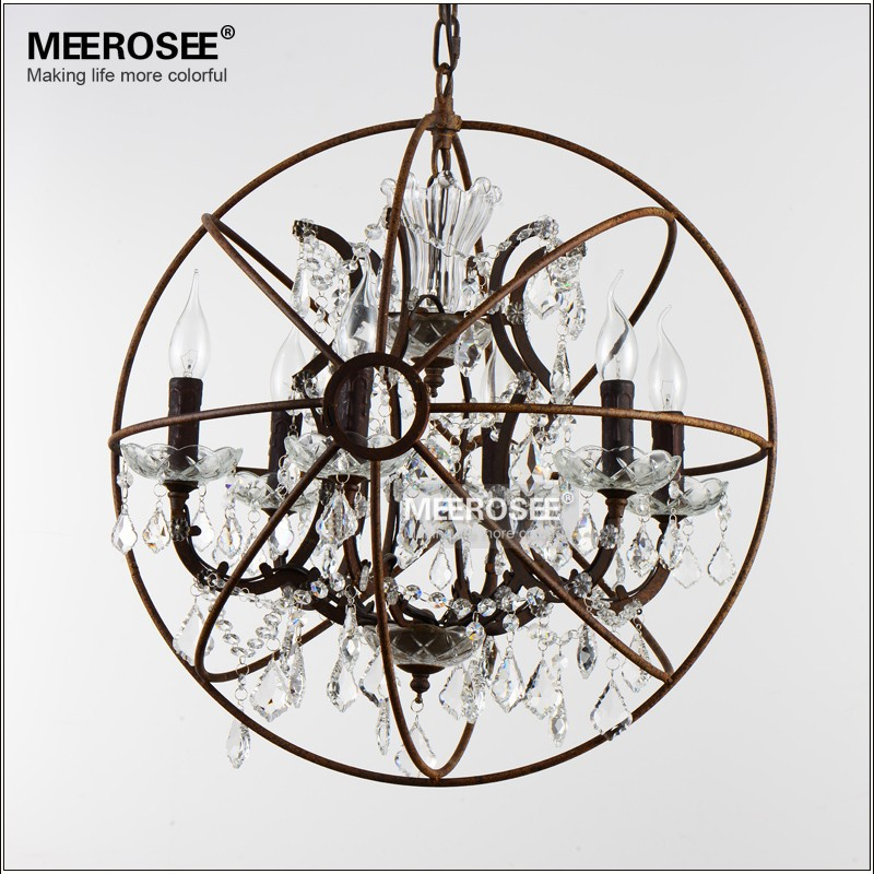 Art Deco American Style Crystal Chandelier Light Fixture Retro Rustic Bird Cage Hanging Lamp for Cafe Coffee Shop Decor Lighting eurosvet люстра eurosvet bogate s 605 6
