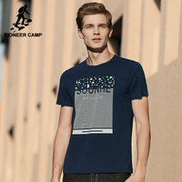 Pioneer Camp Hip Hop T Shirt Men Brand Clothing Fashion Printed Short T Shirt Male Top