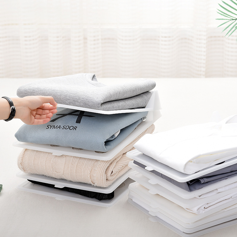 10Pcs/Set Folding Cloth Storage Holders Simple Clothing Wardrobe Finishing Racks Home <font><b>Shirt</b></font> Underwear <font><b>Organizer</b></font> Board Artifact image