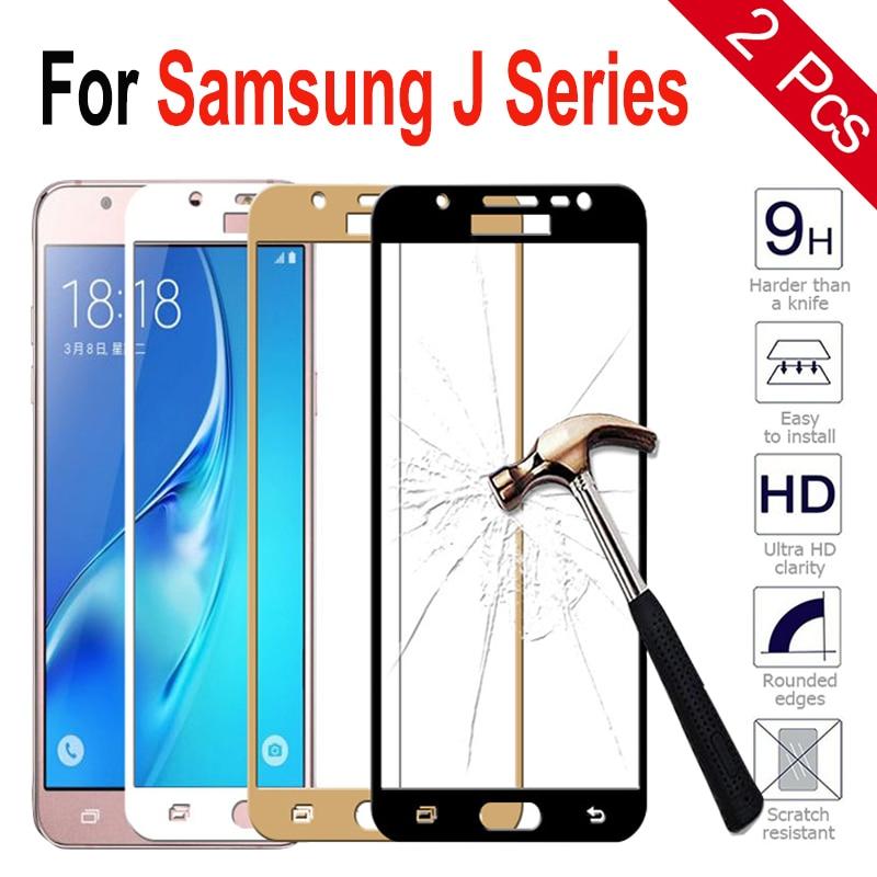 2Pcs Tempered Glass For Samsung Galaxy J3 J5 J7 2016/ J310 J350 Screen Protector On Samsung J1 Ace J7 2016/ J710 J5 Full Cover