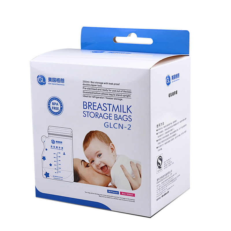 GL 96Pcs/Pack Breast Milk Storage Bag Transparent 250ml Single-use Breast Milk Bags Convenience and Practical Packages For Milk