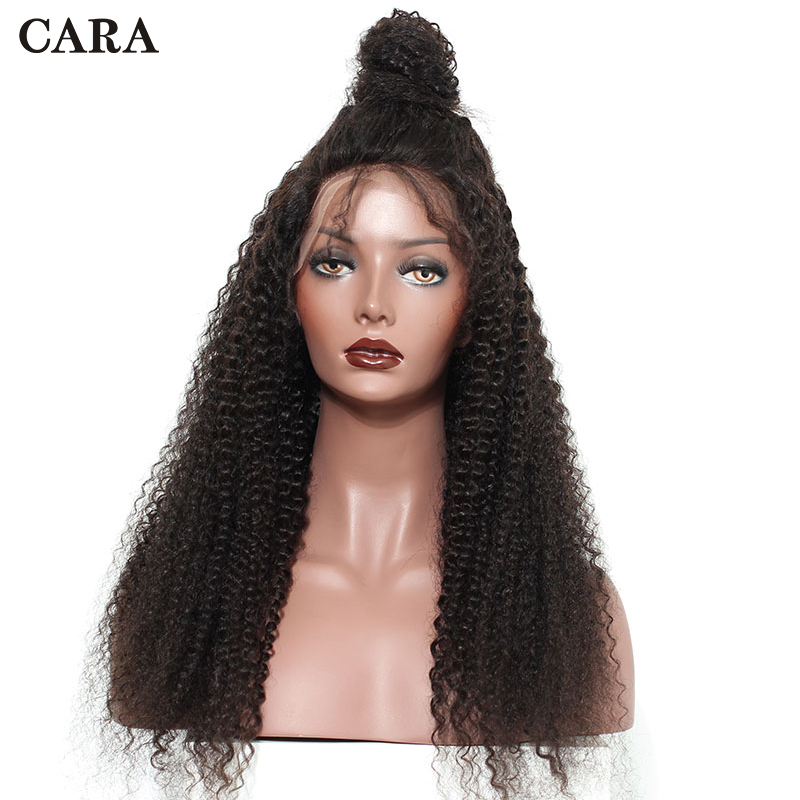 Kinky Curly Wig Pre Plucked Full Lace Human Hair Wigs Glueless Full Lace Wigs For Women Brazilian Natural Black Remy Wig CARA