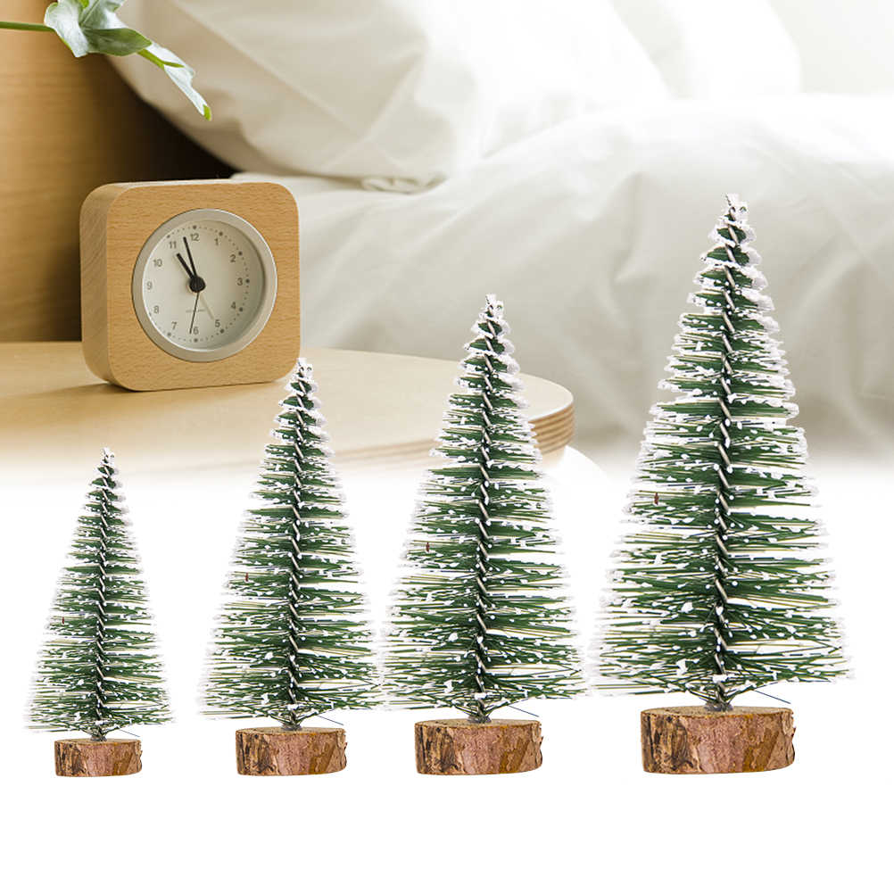 1 pc Simulation Christmas Tree Cute Creative Small Artificial Mini Christmas Trees Desktop Christmas Decor for Home Store Office