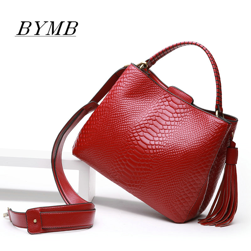 100% Genuine Leather Bag Women Shoulder Bag 2017 Female crossbody messenger bag Lady Europe and the United States handbags