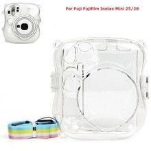 คริสตัลโปร่งใสเปลือกป้องกันกรณีคริสตัลพลาสติกสำหรับกล้องFuji Fujifilm Instax Mini 25 Mini 26