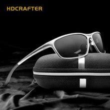 HDCRAFTER אלומיניום מגנזיום גברים של משקפי שמש מקוטבות נהיגה משקפיים שמש Mens oculos זכר Eyewear אבזרים