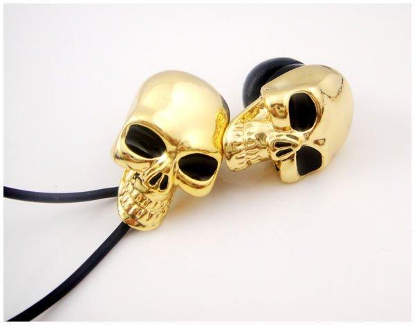 Skull headphone/skull earphone , 10pcs/lot whole sale hot item.