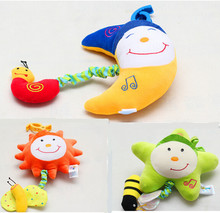 Cute Baby musical toys sun / star / moon Lyre music box Bed & Stroller Toy Hanging Bell Rattle Toys