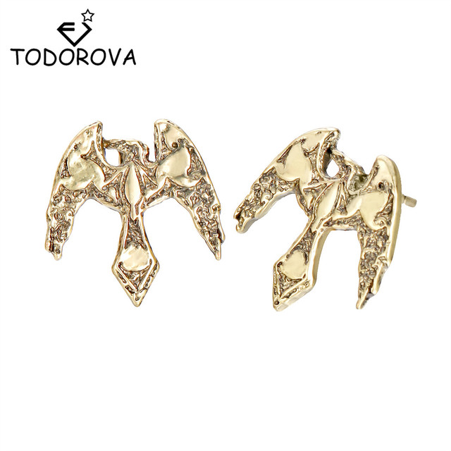 aebc226eb Todorova Slavic Retro Phoenix Earrings Eagle Falcon Bird Animal Jewelry  Vintage Raven Norse Vikings Odin's Amulet