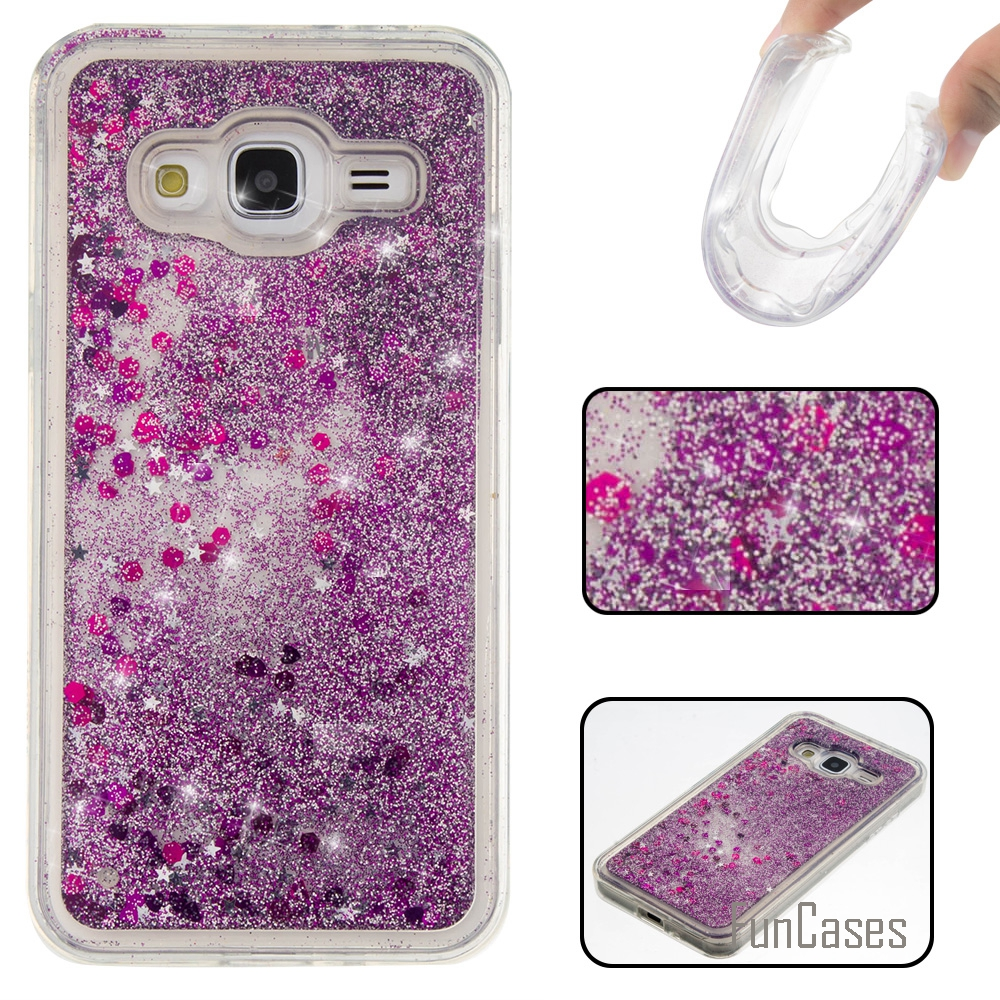 Etui Bling Love Heart Stars Soft TPU Phone Case Cover For Samsung Galaxy J5 J3 2016 Funda Quicksand Phone Cases For Samsung J510