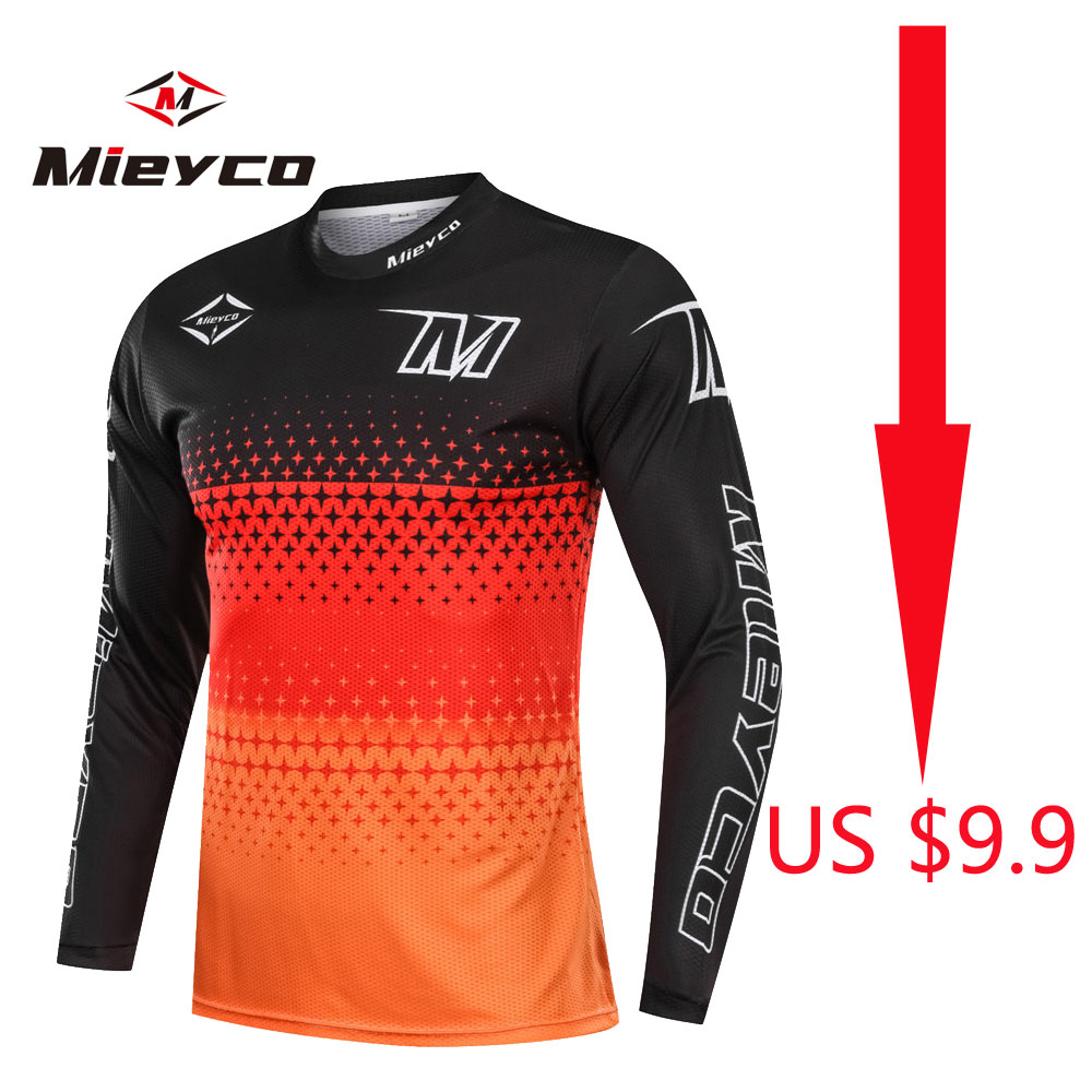Downhill Jersey Mtb Mountain Bike Clothes Dh Mx Motorcycle Off Road Clothing Motocross Racing Sports Wear Comfortable Men Jersey