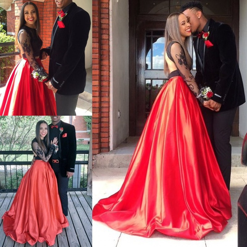 Red and Black Prom Dresses