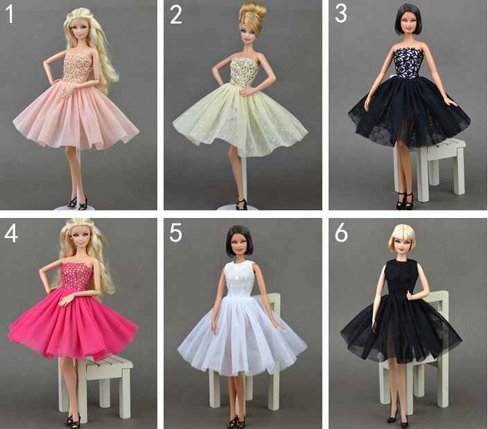 "Doll Clothes Gown Party Outfit Casual Sweater Skirt Bag For 12/"" Dolls BJD 1//6"
