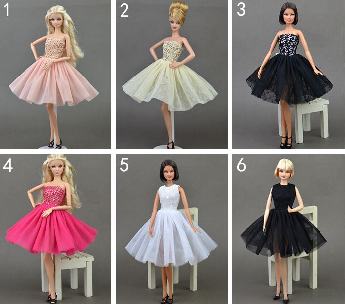Handmade Dress Skirt Lace Evening Party Wedding Princess Gown Fashion Outfit Clothes For 1 6 Toy
