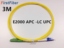 3m E2000 APC to LC UPC Fiber Patch Cable, Fiber Patch Cord Fiber Jumper G657A, Simplex 2.0mm Fiber Cable SM