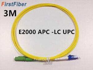 Image 1 - 3m E2000 APC to LC UPC Fiber Patch Cable, Fiber Patch Cord Fiber Jumper G657A, Simplex 2.0mm Fiber Cable SM