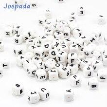 купить Joepada 100 Pieces English alphabet Silicone Teething Beads BPA Free for Making Baby Teething Jewelry Necklace Baby Teether Toy дешево