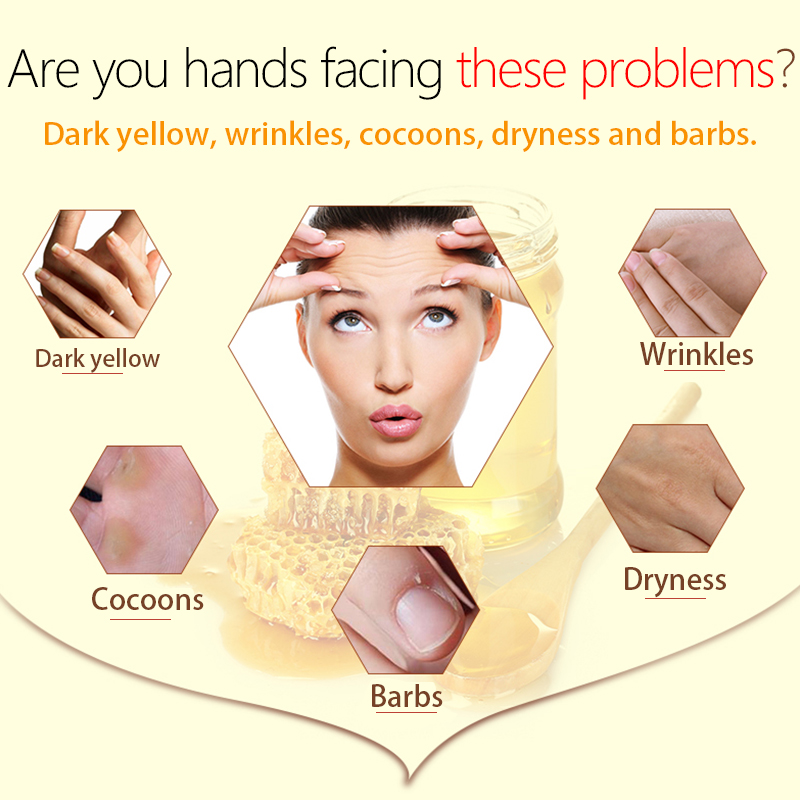 LAMILEE Milk Honey Hand Mask Hand Wax Moisturizing Whitening Skin Care Exfoliating Calluses Hand Film Hands Care Cream 110g 1