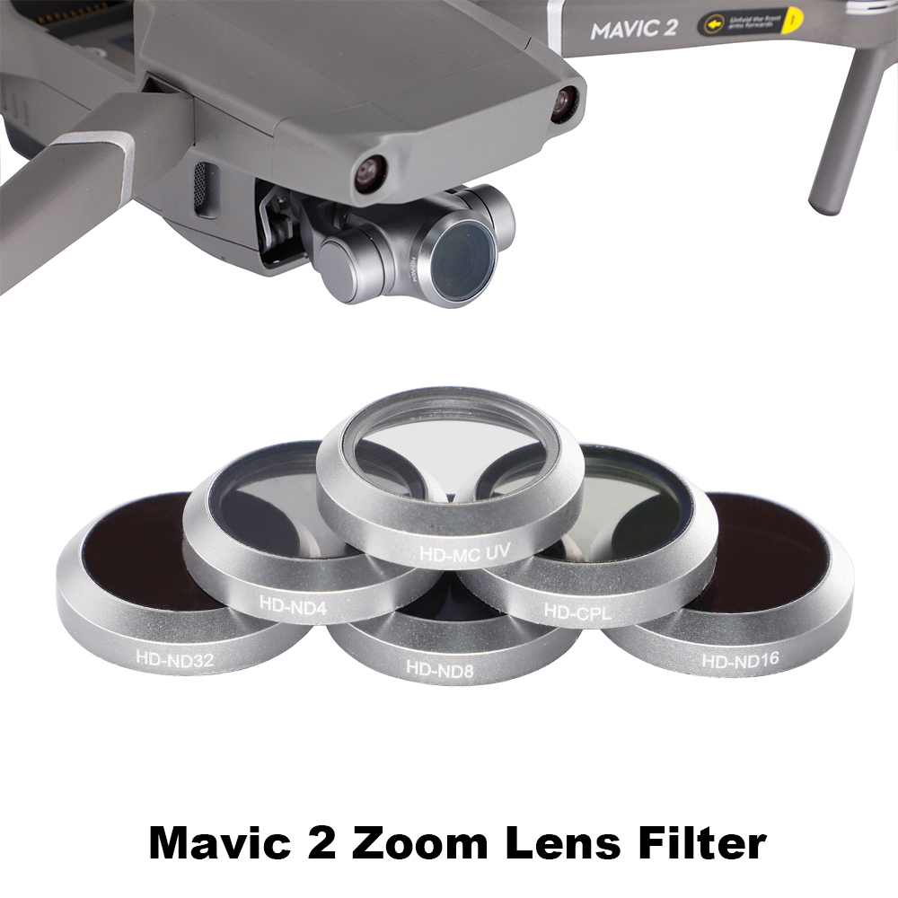 Drone Lens Filter Gimbal Camera FOR DJI Mavic 2 ZooM UV CPL ND4 ND8 ND16 ND32 Glass Neutral Density Polarizing Light Filter