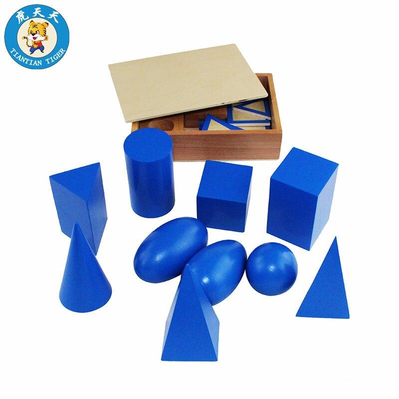 Montessori formes enfants jouets préscolaire matériel d'enseignement formes géométriques groupe avec boîte