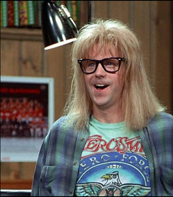 Wayne\'s World Garth Aerosmith T-shirt Halloween Costume Shirt S-3XL Party On