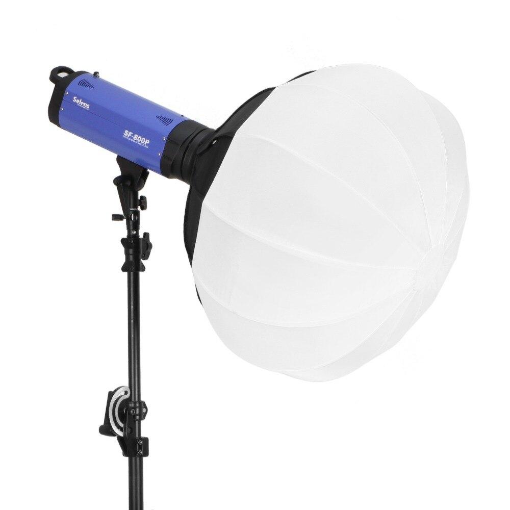 Diffuseur de Globe de forme de boule de lanterne de papier de Softbox de sphère pliable de Selens 50/65/80 cm avec le support de Bowens pour le stroboscope de Flash de Studio