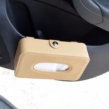 цена на Hanging Type 3 Colors Car Sun Visor Leather Box Clip High Quality Automotive Paper Napkin Holder Removable Tissue Box Cover