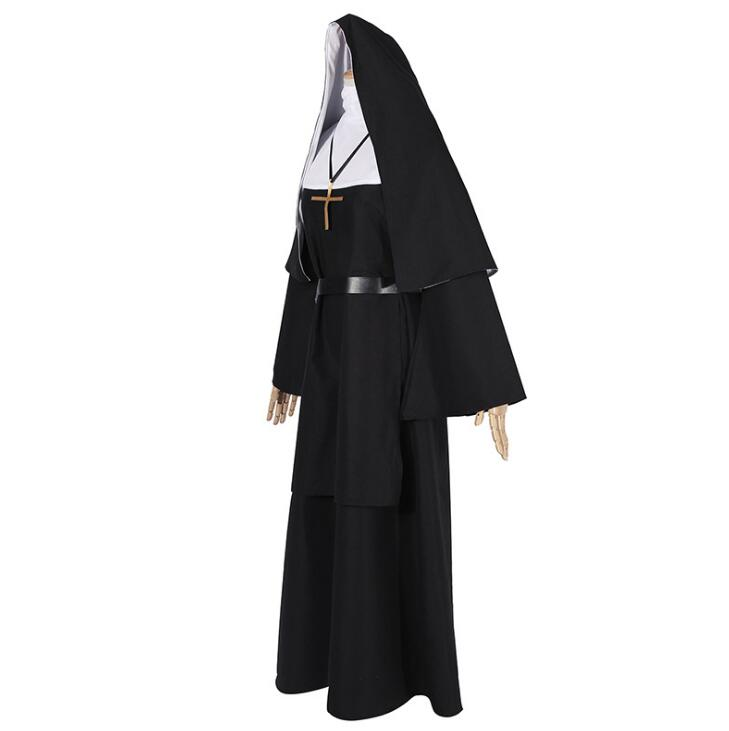 The Conjuring Scary The Nun Valak Sister Cosplay Costume Halloween Women Dress
