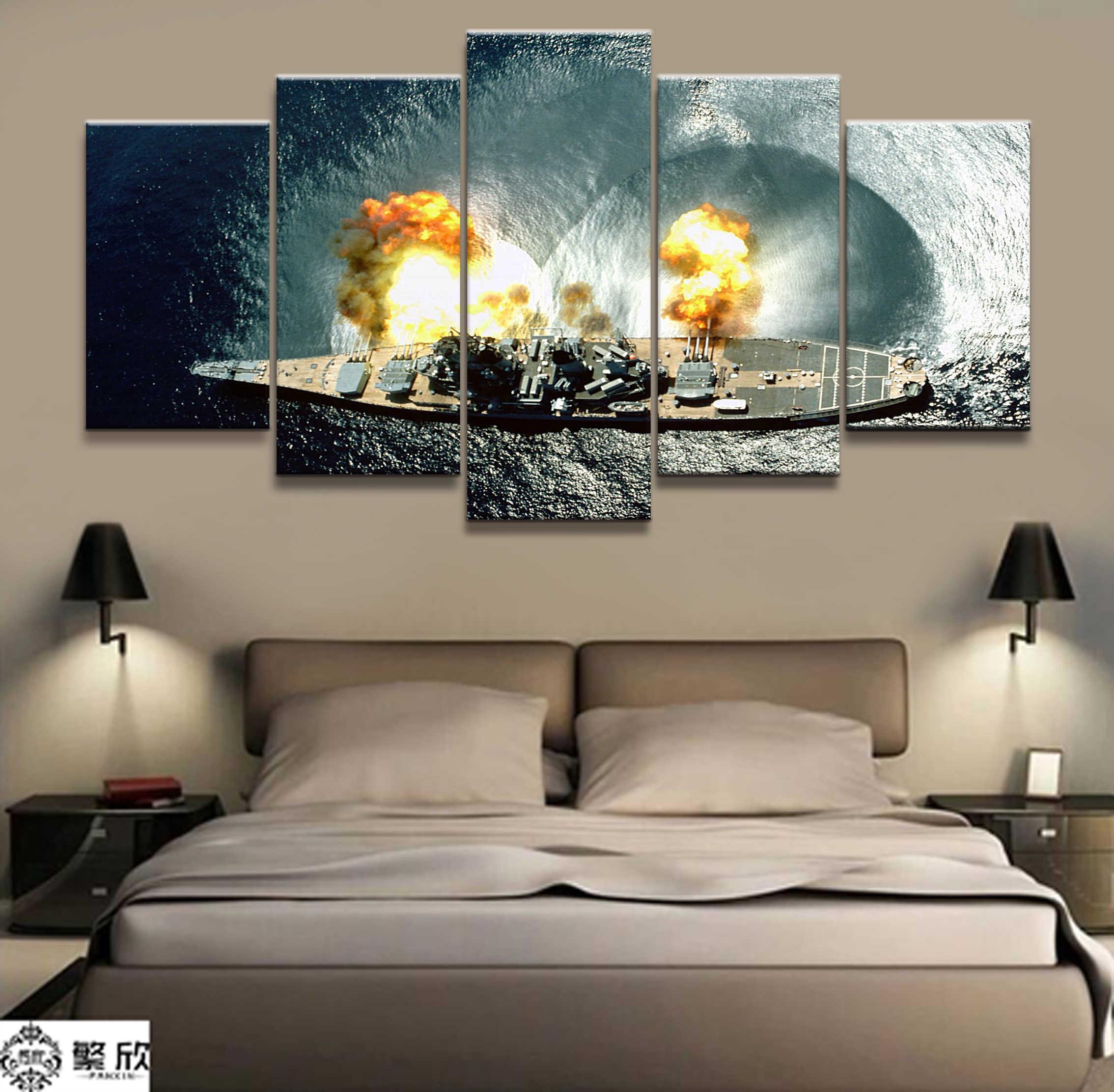 Detail Feedback Questions about 5 Panel Japanese Battleship Yamato