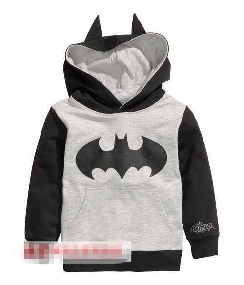 Retail! 1PC 2015 New Arrival Spring Autumn Child Boys Hoodies Long Sleeve batman T-shirts children sport sweatshirt