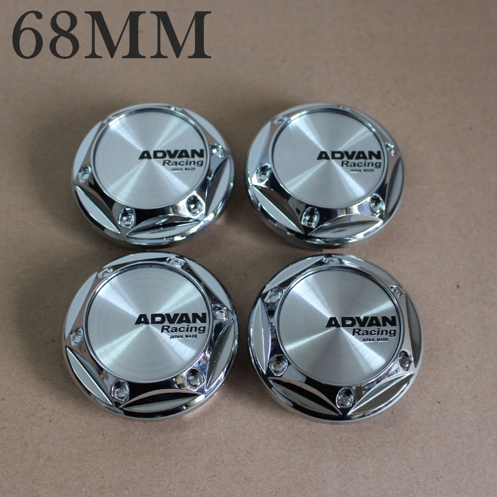 KOM POWER Car-Styling Wheel 68mm Wheel Cap ADVAN Racing Advan Center Caps Hub Cap ADVAN Wheels Covers Caps For Rims 4pcs Wheels