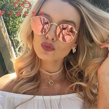 Psacss 2019 gafas de sol redondas de Metal para hombres y mujeres Vintage Color arcoíris marca diseñador gafas de sol oculos de sol femenino UV400