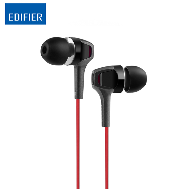 Edifier P265 In-ear HI-FI Earphone 3.5mm Noise-Cancellation Headset with Microphone for Tablet Smartphone Light Weight Earphones