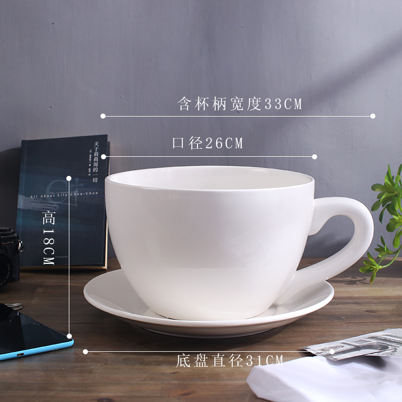 Mug With Saucer Craft Decoration