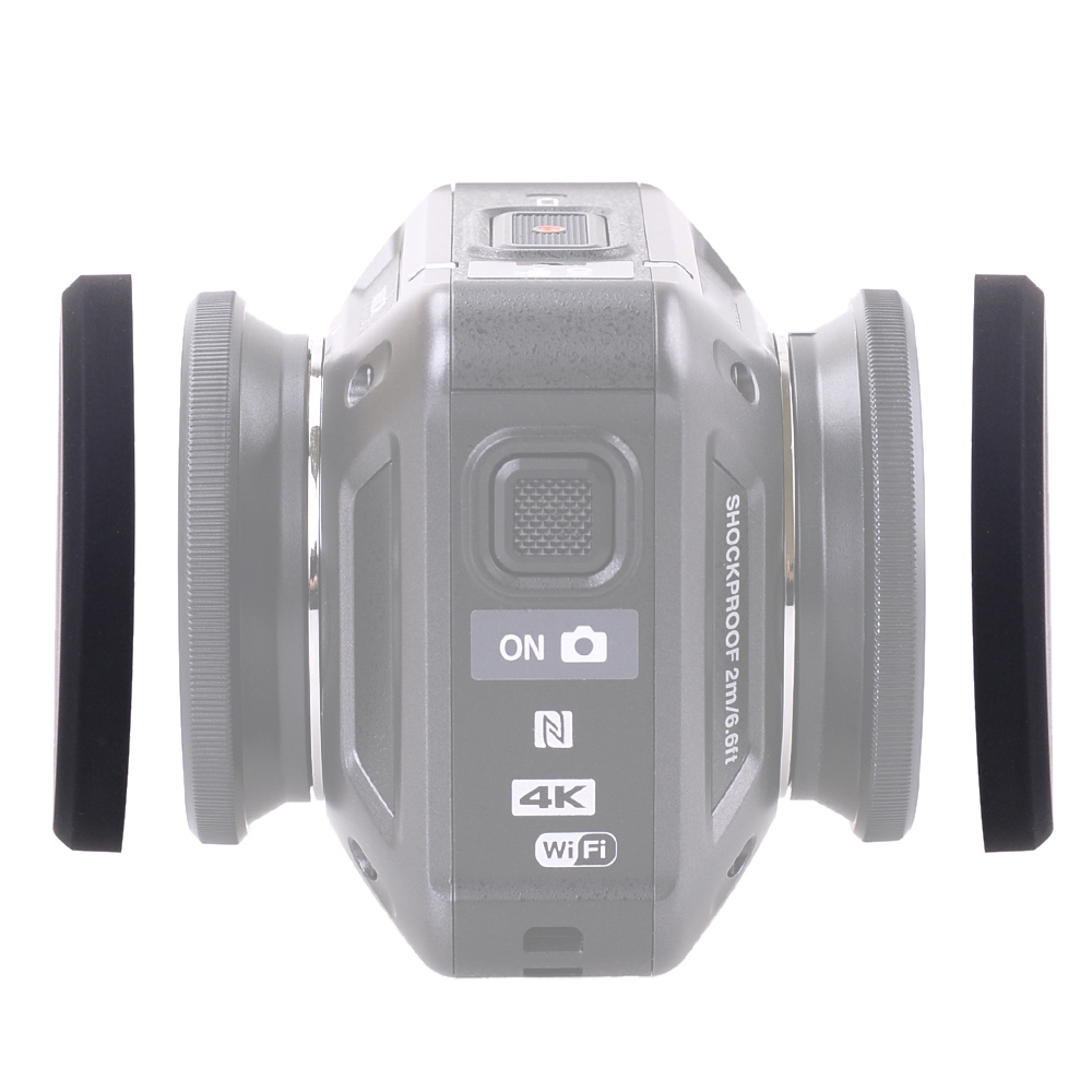 Silicone Protective Lens Cap for Nikon KeyMission 360 Camera Underwater Diving Lens