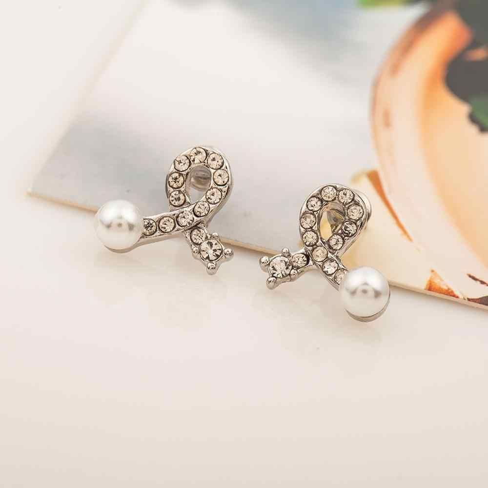 Hot Adorável Ear Cuff Casamento Rodada Contas Imitação de Pérolas Brincos para Mulheres Meninas Jóia Piercing