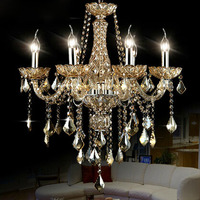 Top K9 Luxury Crystal Chandelier 6 Arms For Bedroom Dining Room Living Room Lighting Fashion Crystal