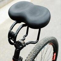 Cycling Bike Saddle Ergonomic Saddles Padded Noseless Saddle Cycling Bike Soft Seat Cushion Pad Bicycle Saddles Seat Black
