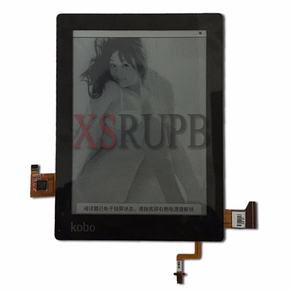 100% original 6 e-ink ED060XH3 touch+ Backlit E-ink Screen For kobo aura(non HD) 6.0 inch eReader LCD Display original new lcd screen ed068tg1 for kobo aura h2o kobo aura h20 with backlight reader e book lcd displayl free shipping