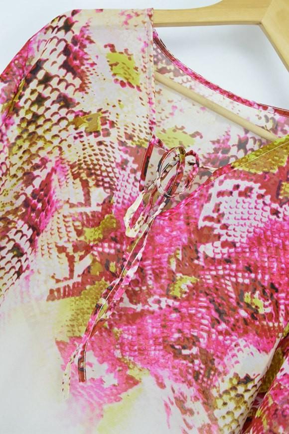 New Arrivals Beach Caftan Swimsuit Cover up Print Chiffon Pareo Women Robe Plage Swimwear Dress Sexy Sarong Beach Tunic #Q152 13