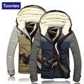 2017 Novo Inverno Para Baixo Homens Jaqueta de Marca de Roupas de Inverno Com Capuz Homens jaqueta de Patchwork Engrossar Inverno Parka Homens Casaco de Inverno Quente casaco