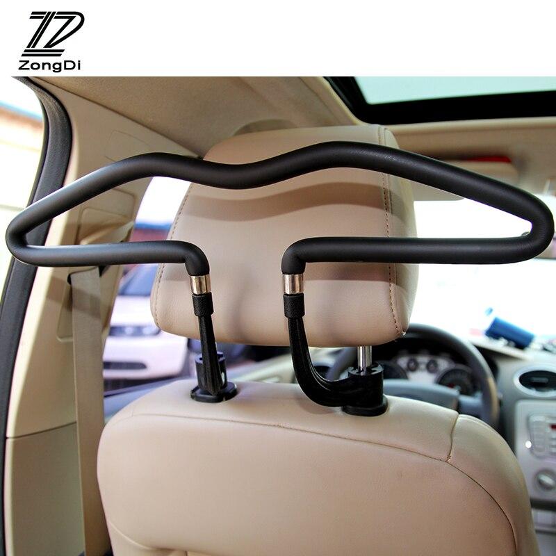 ZD Automobiles For Mercedes W203 W211 W204 W210 Benz BMW F10 E34 E30 F20 X5 E70 E46 Car Hanger Clothes Rack Headrest Stainless