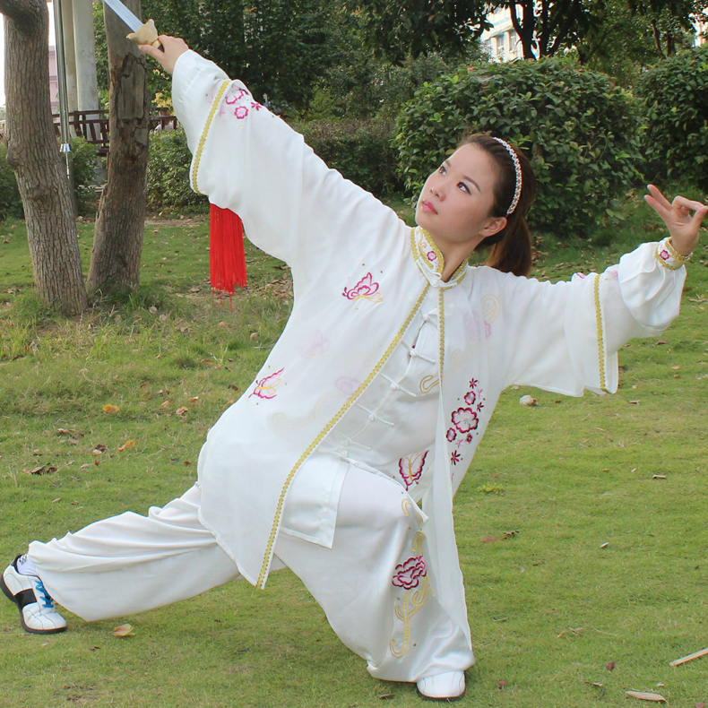 The Ancient Chinese Embroidery Veil Lady Costume Tai Chi Clothing Clothes Morning Suit 3 Sets Of Costumes